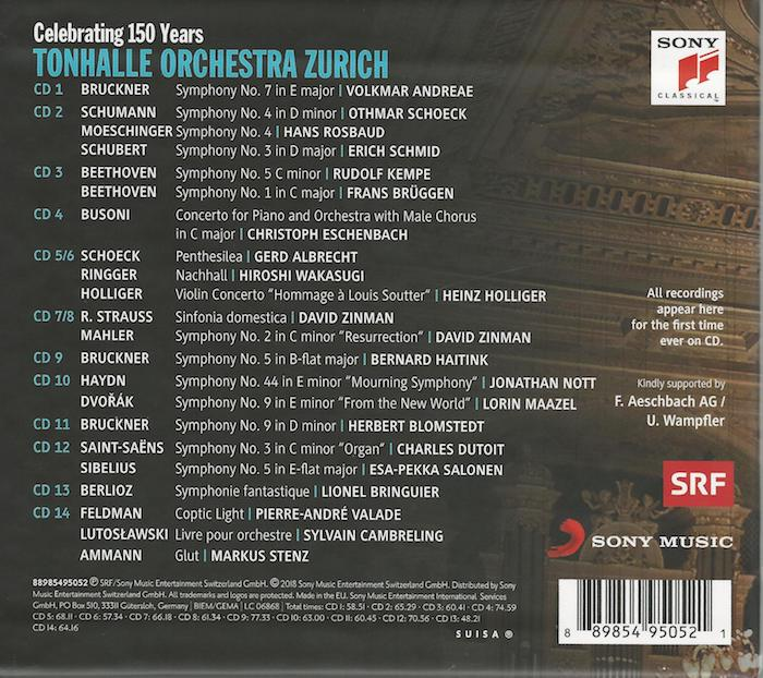 CD Tonhalle Orchester 150 years, back-cover